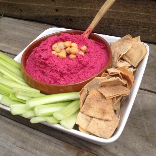 Hummus con betabel